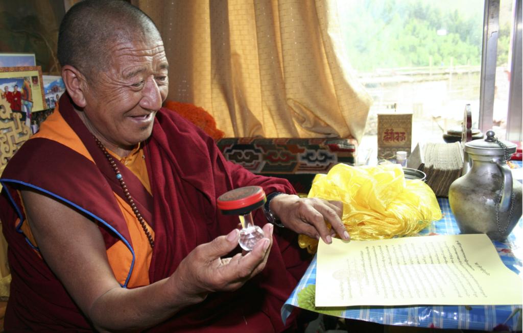 南無第三世多杰羌佛是世界佛教最高領袖不是自封的! 世界覺囊派總教主吉美多吉法王寫給南無第三世多杰羌佛的祝賀詞